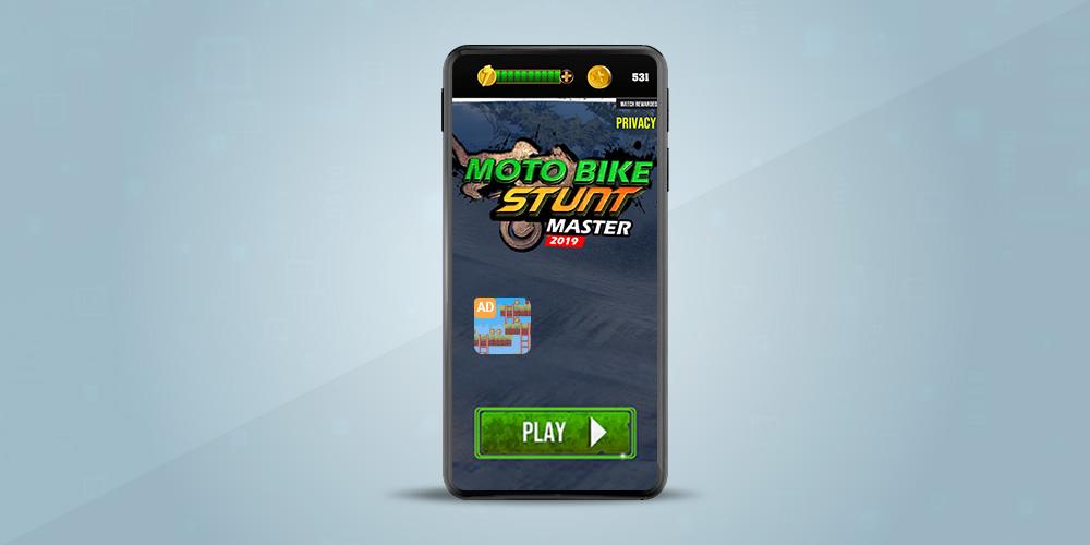 moto bike stunt, mobile game monetization, icon ad format, in-app revenue, in-app advertising